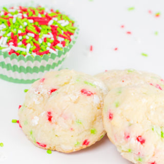 Gooey Sprinkle Christmas Cookies