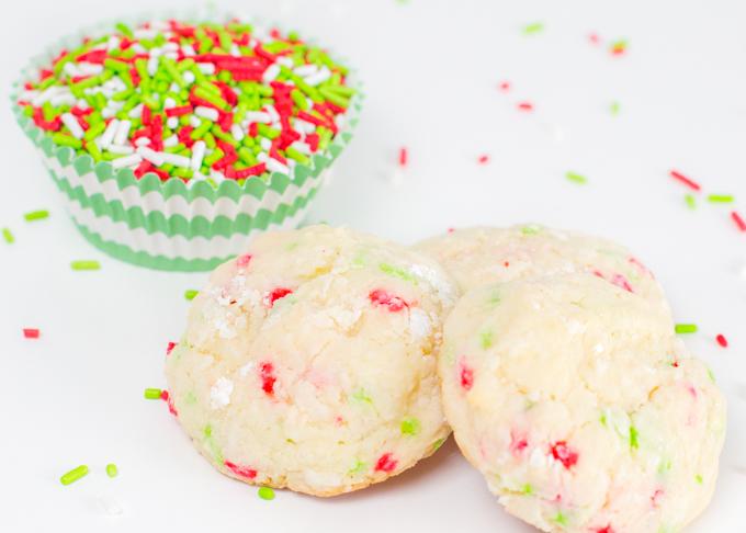 Gooey Sprinkle Christmas Cookies