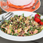 Kale Salad with Strawberry Vinaigrette