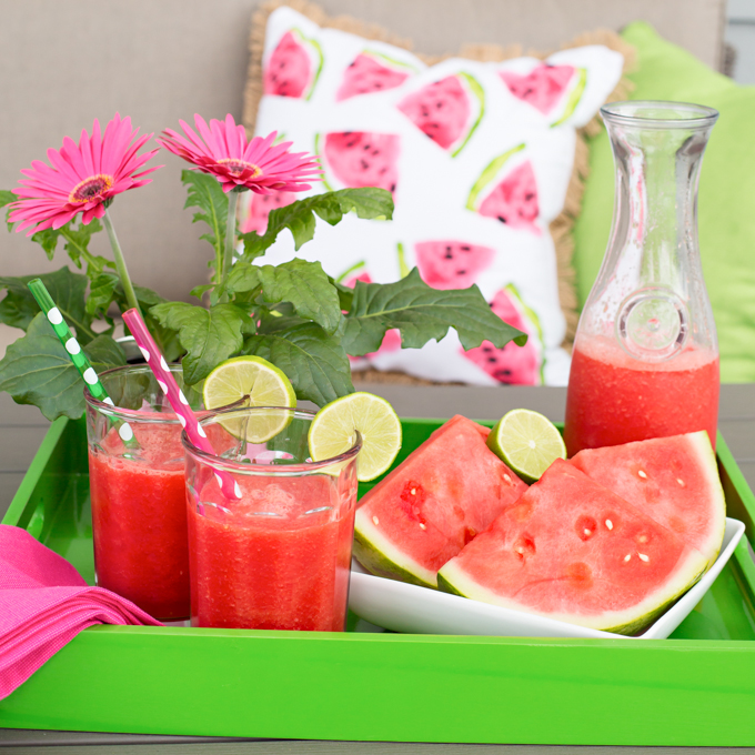 watermelon lime slush