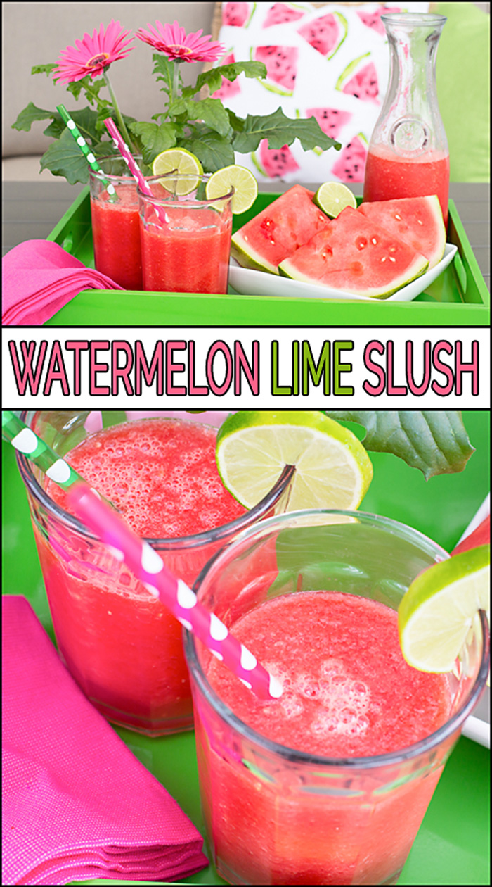 watermelon lime slush