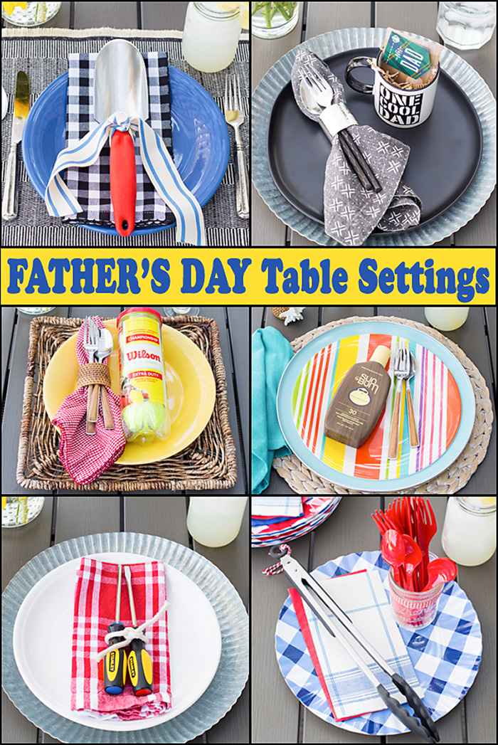 Father's Day Table Settings