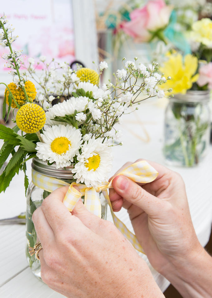 Make Your Own Bouquet Bridal Shower Brunch