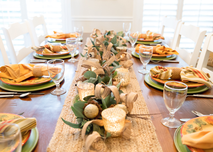 Woodland Themed Fall Tablescape