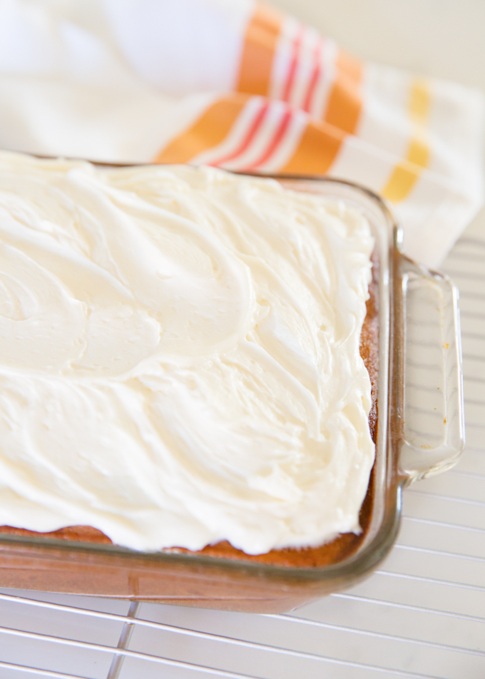 Banana Cake w/Cream Cheese Frosting