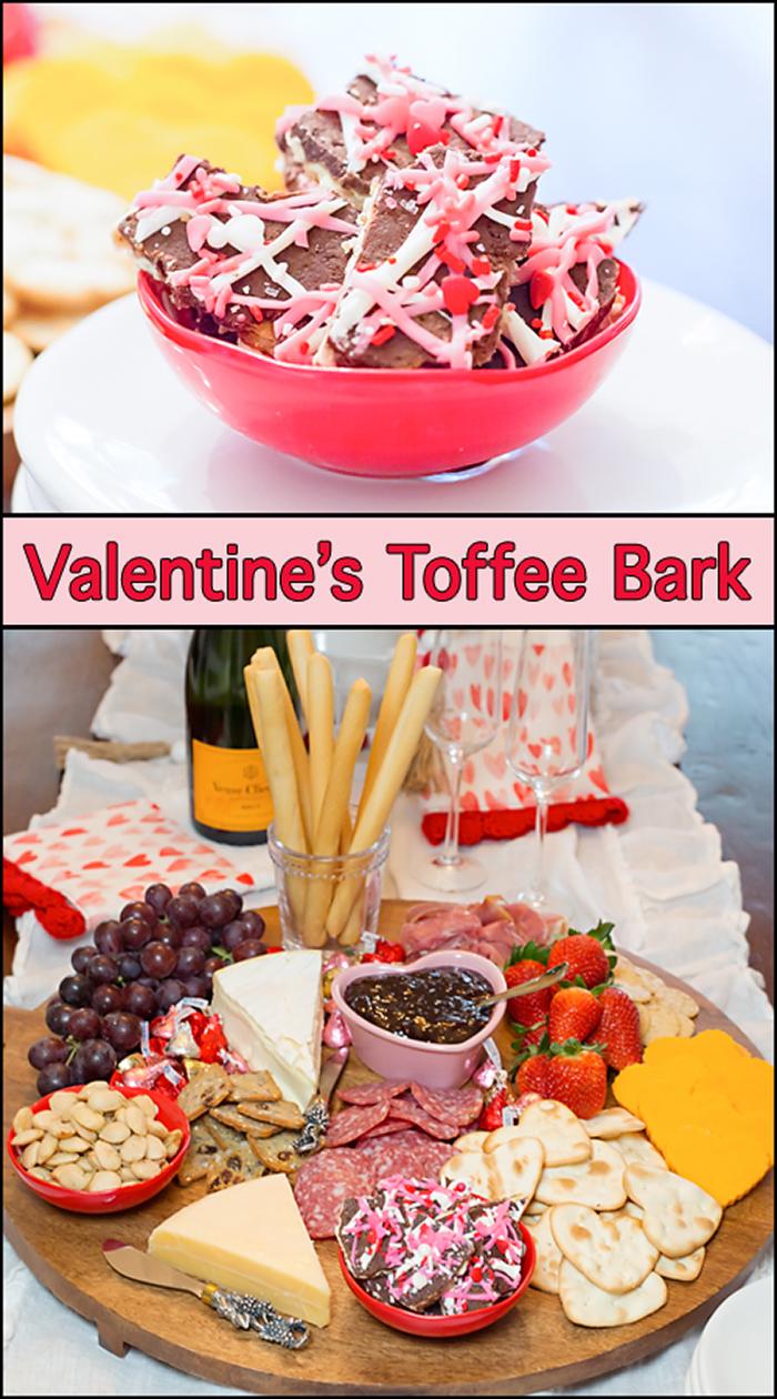 Valentine's Toffee Bark