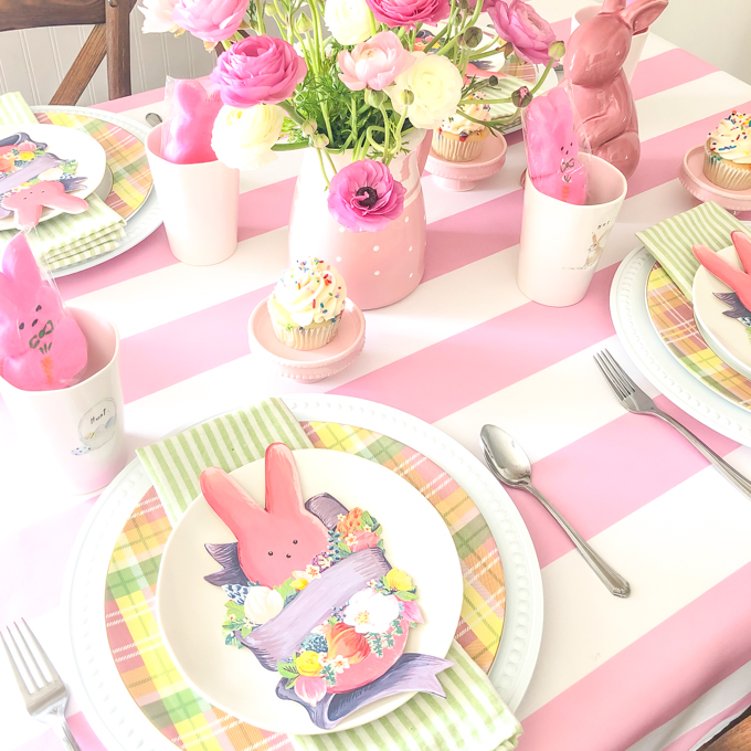 Pink Peep Easter Table