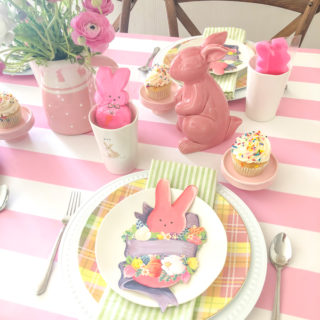 Pink Peep Easter Table