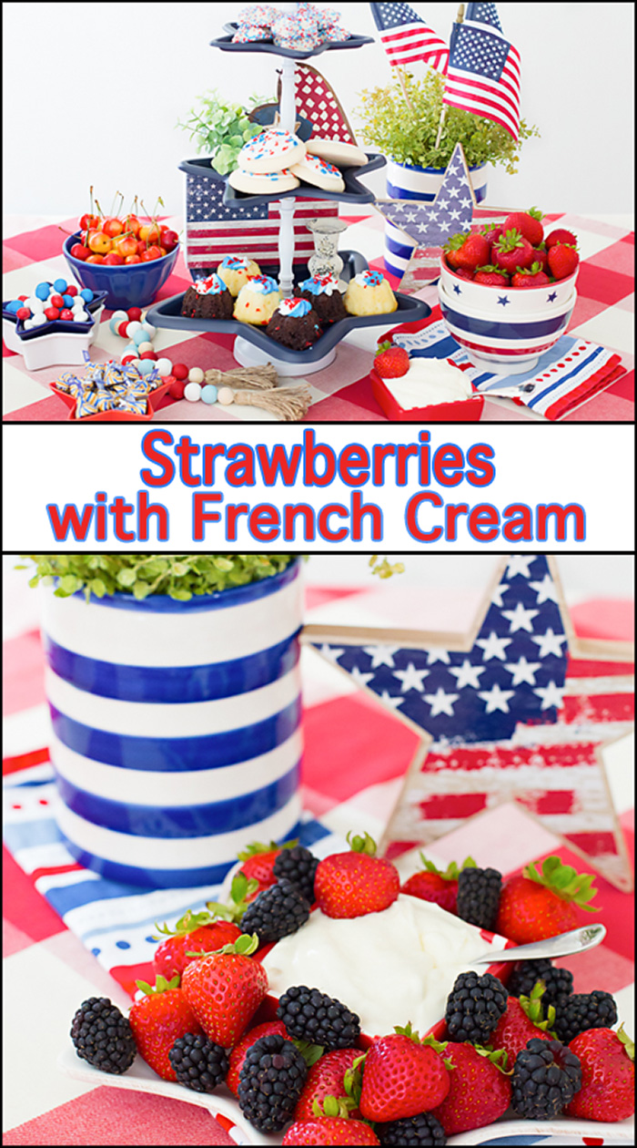 Strawberries with French CreamStrawberries with French CreamStrawberries with French Cream