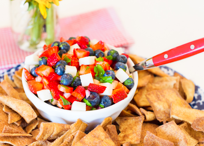 Red, White, & Blueberry Fruit Salsa