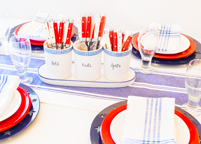 Simple 4th of July Tablesetting