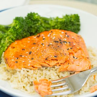 Air Fryer Hot Honey Salmon