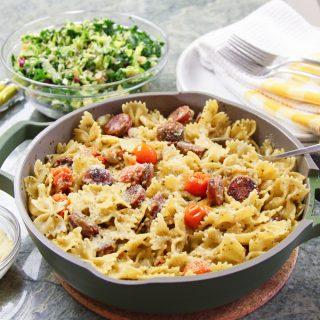 Pesto Pasta with Sausage